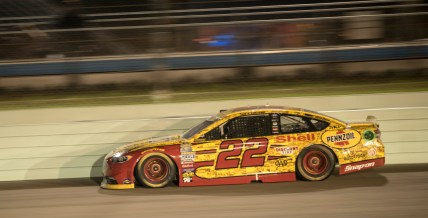 Sprint Cup Series driver Joey Logano (22) during the Ford Ecoboost 400 at Homestead-Miami Speedway, Sunday, Nov. 20, 2016, in Homestead, FL.