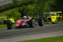 Oliver Askew leads a hard charging pack into turn 2 during the first USF2000 race of the weekend on his way to a victory at Barber Motorsports Park on April 21, 2017. Photo: Josh Chin/Motorsports Tribune