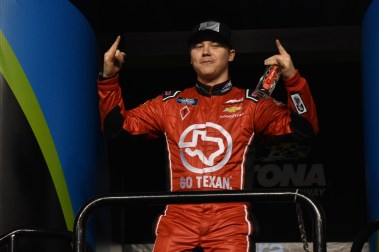 Austin Wayne Self during driver introductions at Daytona.