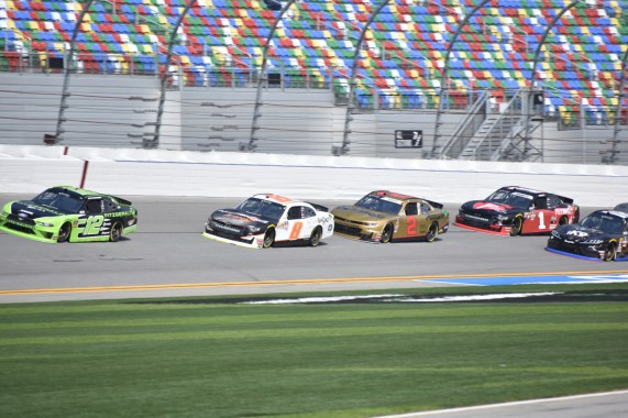 The Xfinity Series cars came to life during Friday's opening practice.