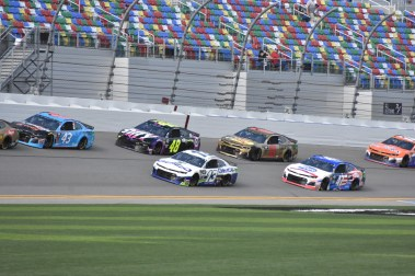 Bubba Wallace (43), Ty Dillon (13), Jimmie Johnson (48), Daniel Hemric (8), Ryan Preece (47) and Landon Cassill (00).
