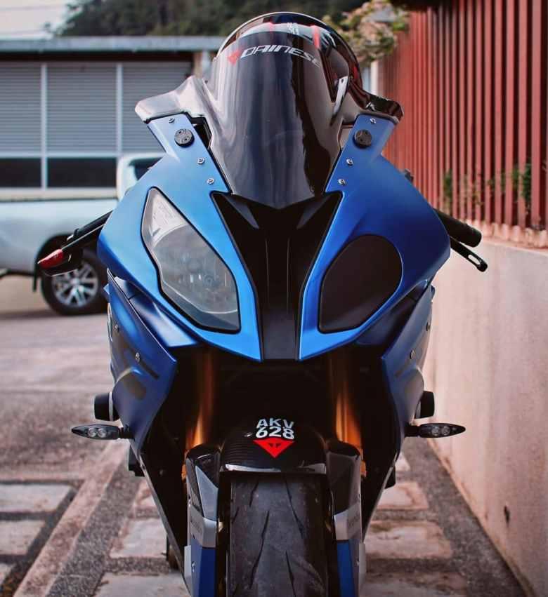 gewrapte motorfiets