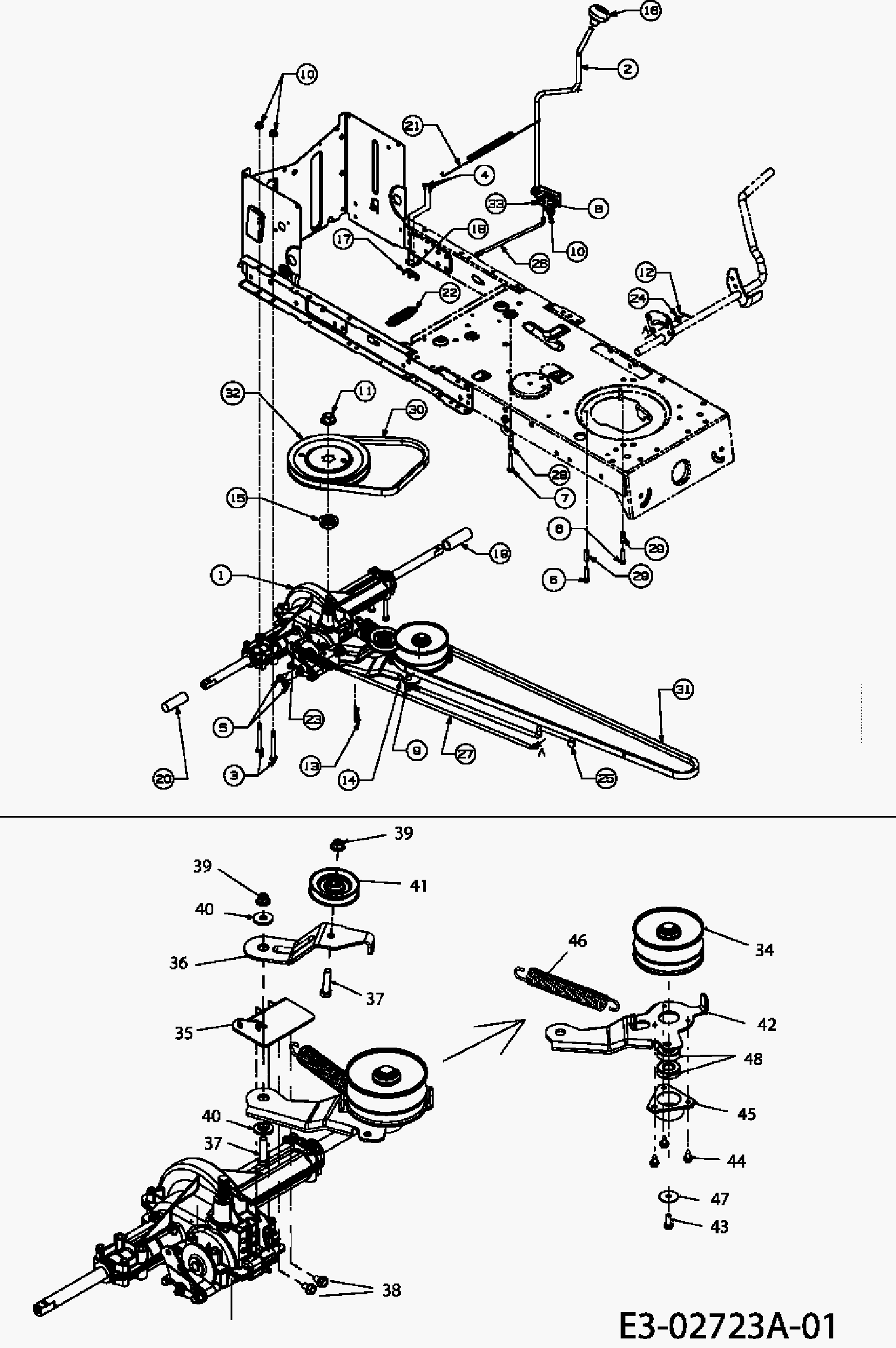 Huskee riding mower manual murray mower parts diagram murray 461007x92a parts list and