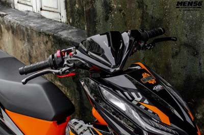 modifikasi vario 150 orange black