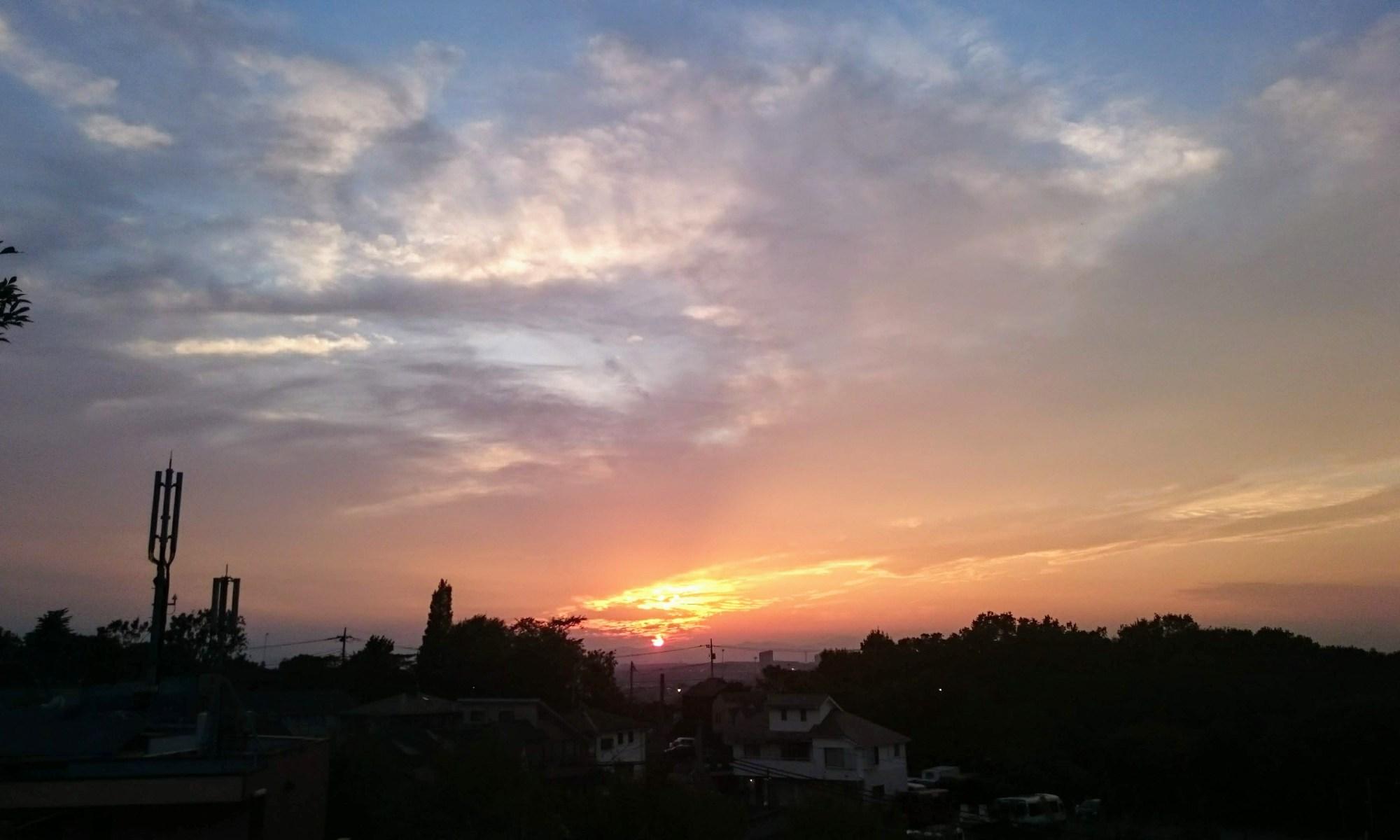 9月27日の夕焼け