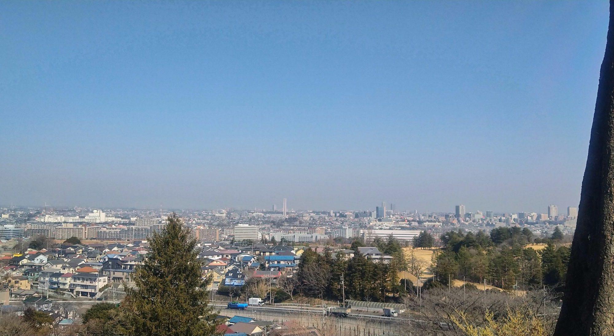 春霞の関東平野