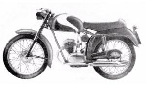 Moto Alpino 75cc. 4T con distribución a la cabeza.