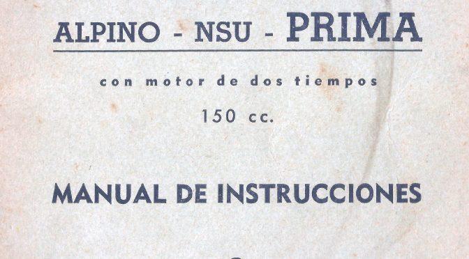 Manual de instrucciones alpino-nsu prima 150