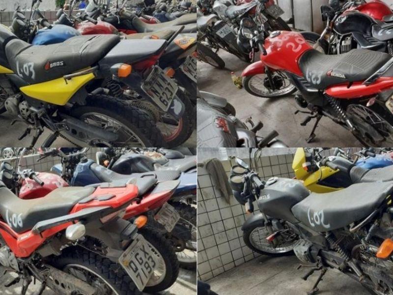 Leilão do Detran tem motos com lances a partir de R$100,00
