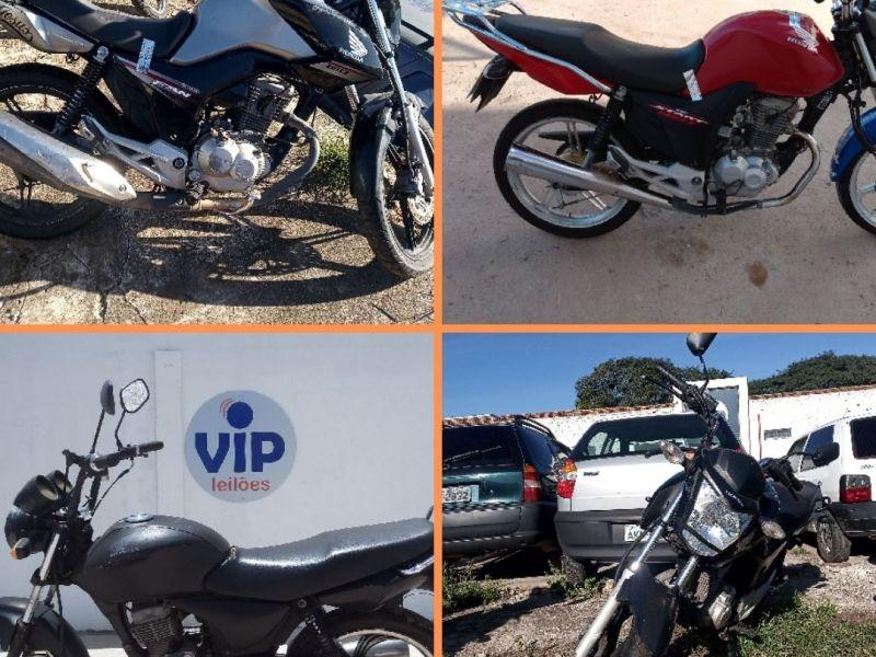 Leilão tem motos com lance inicial de R$350,00