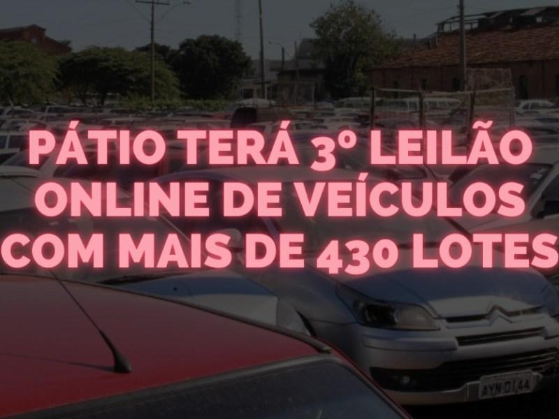 Pátio terá 3º leilão online de veículos com mais de 430 lotes