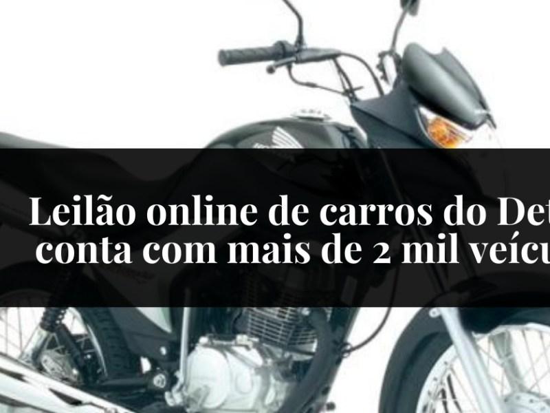 Leilão online de carros do Detran conta com mais de 2 mil veículos