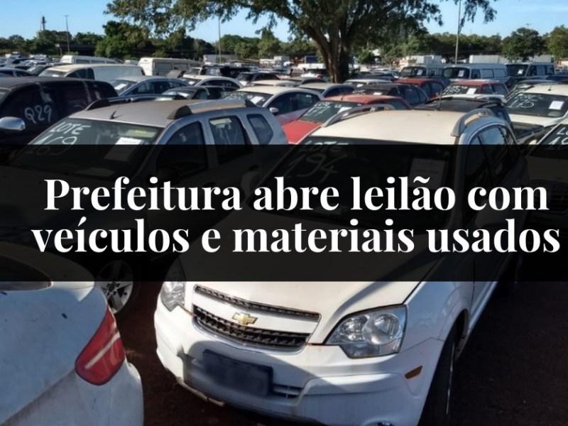 Prefeitura abre leilão com veículos e materiais usados