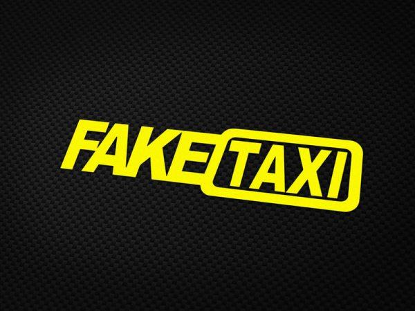FAKETAXI Aufkleber in Gelb von MotoWear Germany