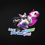 Partner Aufkleber von braaap.love – Let out your inner UNICORN!