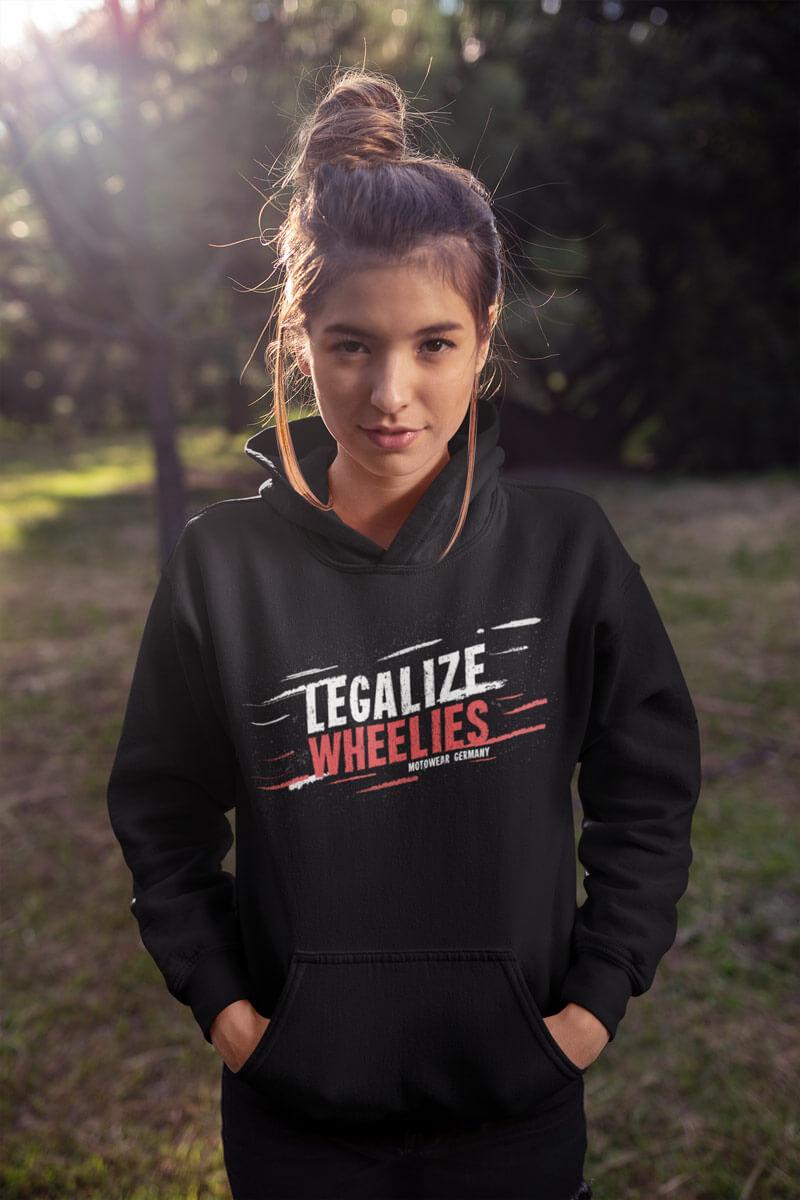 Legalize Wheelies Hoodie für Frauen