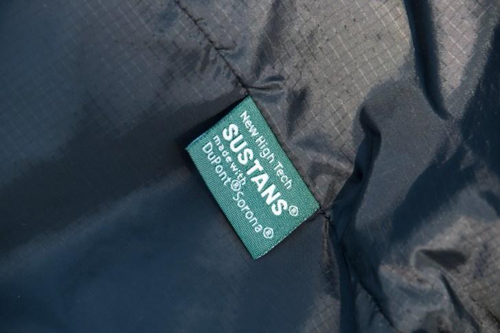 高機能中綿のサスタンスを採用