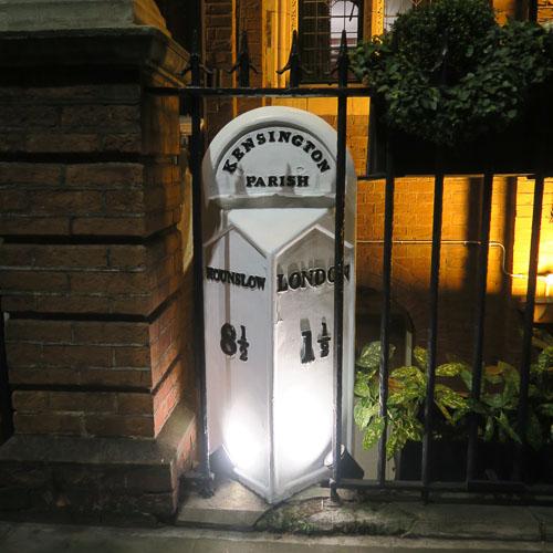 Kensington to Hounslow milestone in London