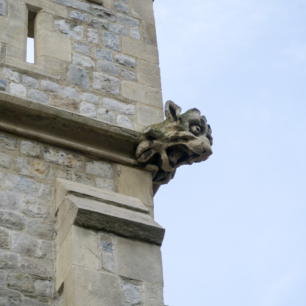 A gargoyle at the Tower of London