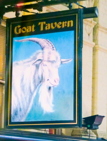 The Goat Tavern pub sign in Kensington, London
