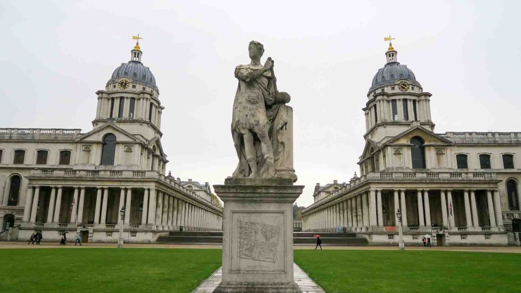 Statue of King George II as a Caesar, Greenwich, England