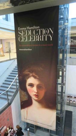Poster for the Emma Hamilton exhibit at National Maritime Museum