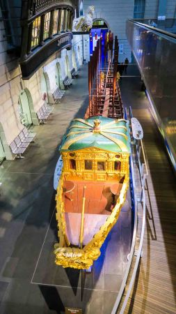 The barge of Prince Frederick at the National Maritime Museum, Greenwich