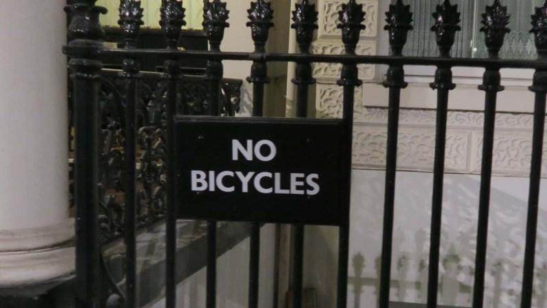Basic No Bicycles sign