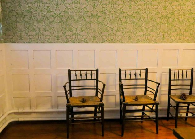 Chairs from Morris & Co at the Red House in Bexleyheath near London, England