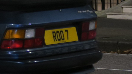 R00 7 vanity plate – must be an Aussie, right mate?