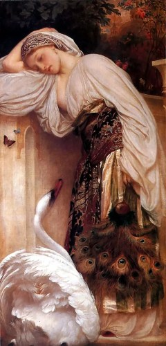 This pre-Raphaelite painting from 1862 by Sir Frederic Leighton is called The Odalisque. Credit: Frederic Leighton, 1st Baron Leighton [Public domain], via Wikimedia Commons
