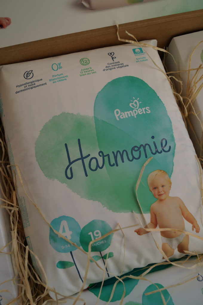 Les couches Pampers Harmonie