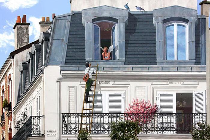 Increíbles fachadas pintadas que te harán dudar si son reales 20
