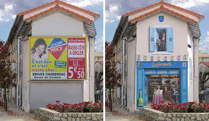 Increíbles fachadas pintadas que te harán dudar si son reales 23