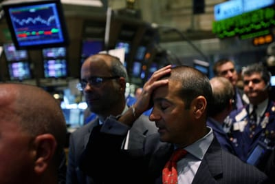 stock market falls yields inflation oil