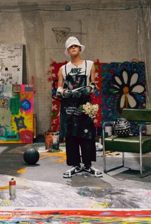 G-Dragon Resumes, 'Live Art Performance' with Nike