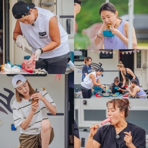 """'Playing Sister', 26 kinds of eating at camping for 2 days and 1 night...""""Only I don't gain weight"""""""