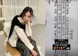 """Hyomin """"Due to health problems, stop drinking + start fasting, do not contact me"""""""