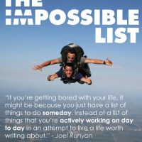 "My ""Impossible"" List"
