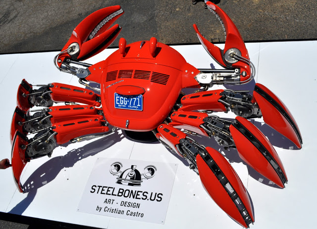 I'd Crack That: Cristian Castro's Crab Made from VW Bug Parts
