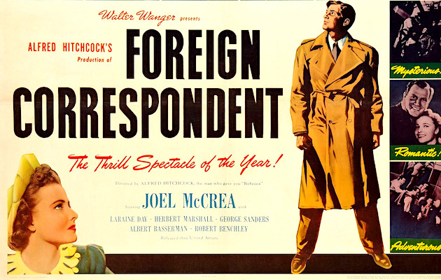 [VIDEO] Full Movie: Alfred Hitchock's 'Foreign Correspondent', 1940