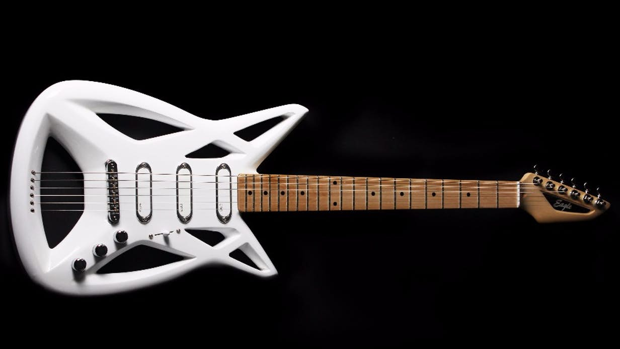 Award-winning Eagle guitar flies into production