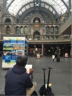 Sketching stasiun kereta Antwerp
