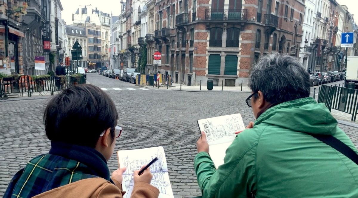 Sketching Di Beberapa Kota Eropa