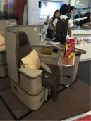 Super Diamond Seat (desain terbaru kursi kelas bisnis A330-300)