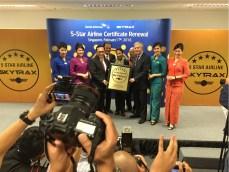 Penganugerahan 5 Star Airline dari Skytrax
