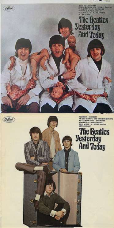 Portadas controversiales: The Beatles - Yesterday and today