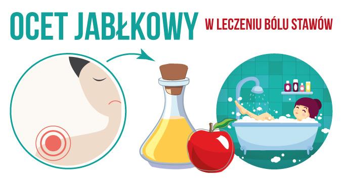 Kojące działanie octu jabłkowego w leczeniu zapalenia i bólu stawów.