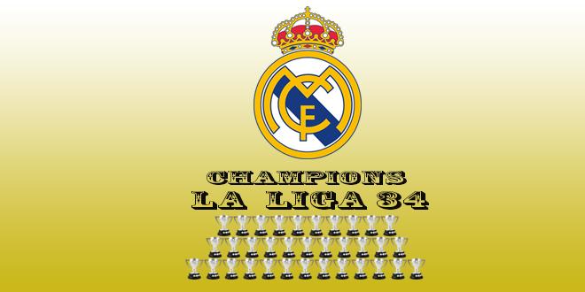 الدوري الإسباني ... ريال مدريد يتوج باللقب 34 في تاريخه