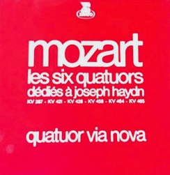 1975-Mozart-Six quatuors dédiés à Joseph Haydn